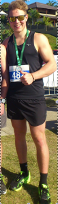 Post 5km-race on Sunday, at a more healthy 80kg